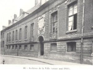 Tournai archives de la ville avant 1940